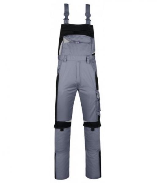 PKA Arbeits-Berufs-Latz-Hose Bestwork, MG250, grau/schwarz