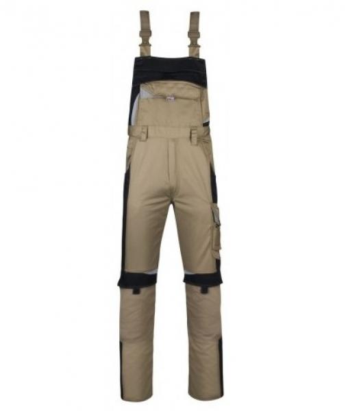 PKA Arbeits-Berufs-Latz-Hose Bestwork, MG250, khaki/schwarz