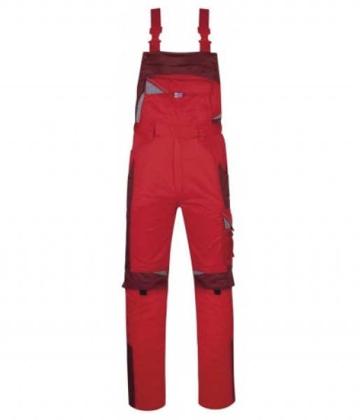 PKA Arbeits-Berufs-Latz-Hose Bestwork, MG250, rot/bordeaux