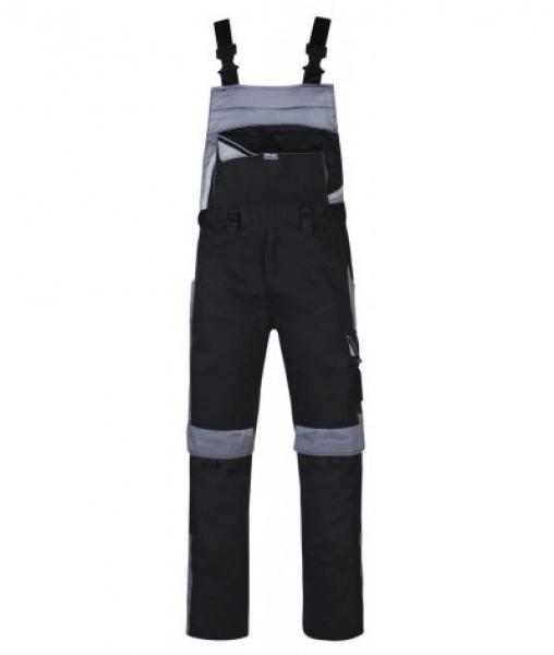 PKA Arbeits-Berufs-Latz-Hose Bestwork, MG250, schwarz/grau