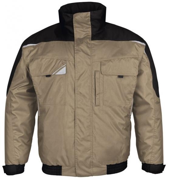 PKA-Kälte-Schutz, Winter-Arbeits-Berufs-Piloten-Jacke, Bestwork, khaki/schwarz