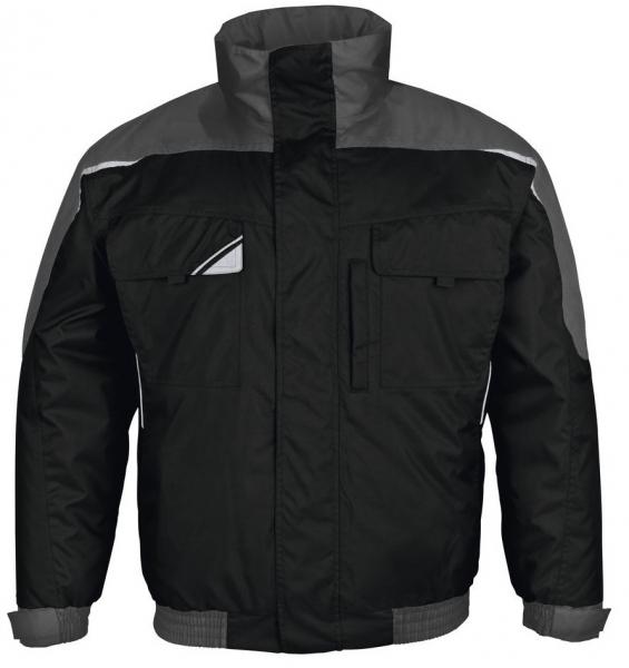 PKA-Kälte-Schutz, Winter-Arbeits-Berufs-Piloten-Jacke, Bestwork, schwarz/grau