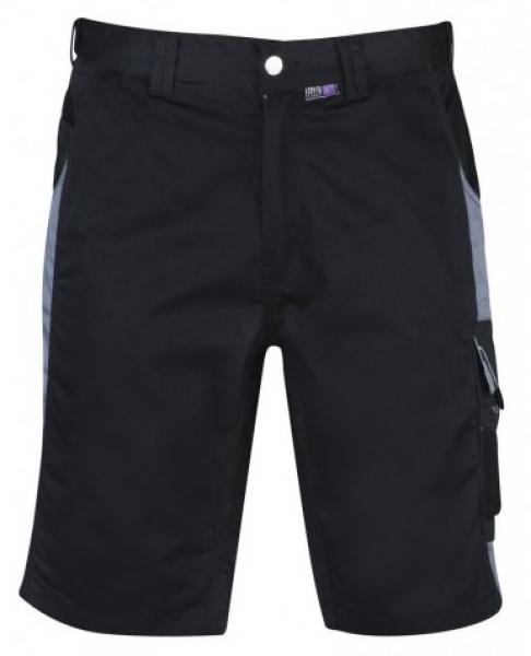 PKA Arbeits-Berufs-Shorts, Bestwork, 250 g/m², schwarz/grau