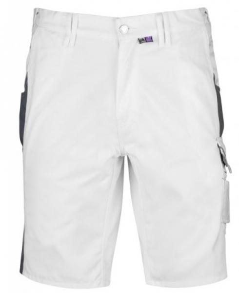 PKA Arbeits-Berufs-Shorts, Bestwork, 250 g/m², weiß/grau