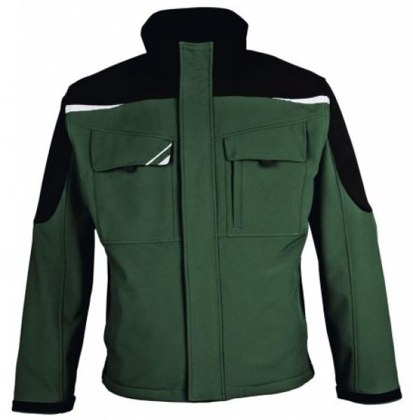 PKA Winter-Softshell-Arbeits-Berufs-Jacke Bestwork, grün/schwarz