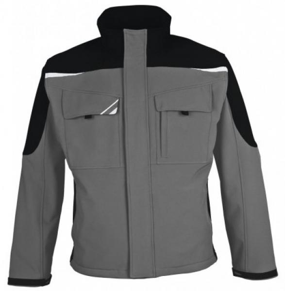PKA Winter-Softshell-Arbeits-Berufs-Jacke Bestwork, grau/schwarz