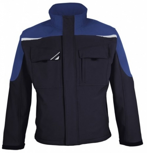 PKA Winter-Softshell-Arbeits-Berufs-Jacke Bestwork, hydronblau/kornblau
