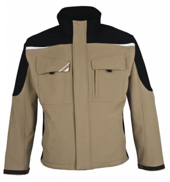 PKA Winter-Softshell-Arbeits-Berufs-Jacke Bestwork, khaki/schwarz