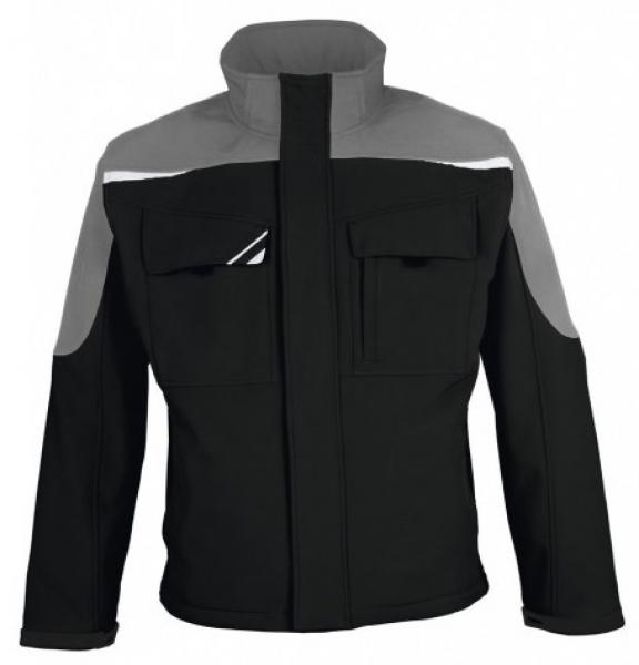 PKA Winter-Softshell-Arbeits-Berufs-Jacke Bestwork, schwarz/grau