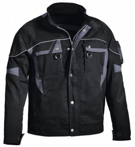 PKA-Arbeits-Berufs-Bund-Jacke, Blouson, Threeline De Luxe, MG330, schwarz/grau