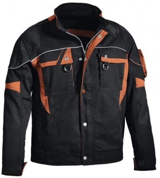 PKA-Arbeits-Berufs-Bund-Jacke, Blouson, Threeline De Luxe, MG330, schwarz/orange