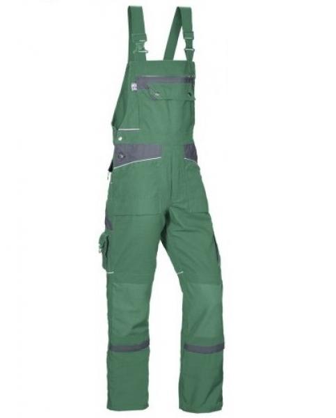 PKA Arbeits-Berufs-Latz-Hose Threeline De Luxe, MG330, grün/grau