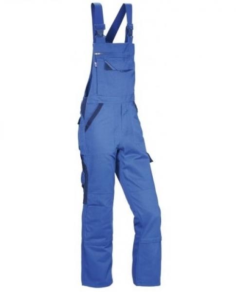 PKA Elastik-Arbeits-Berufs-Latz-Hose Threeline Perfekt, MG320, kornblau/hydronbl