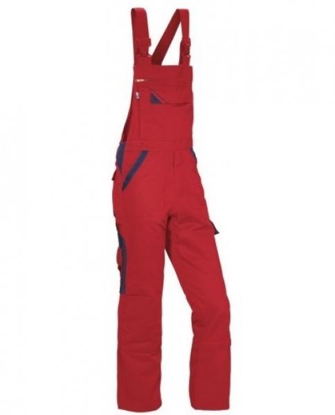 PKA Elastik-Arbeits-Berufs-Latz-Hose Threeline Perfekt, MG320, rot/hydronblau