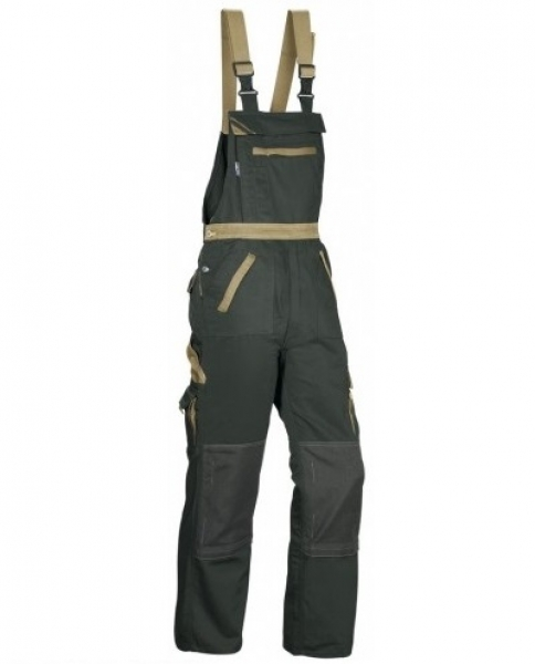 PKA Arbeits-Berufs-Latz-Hose Threeline Image, MG330, oliv/khaki