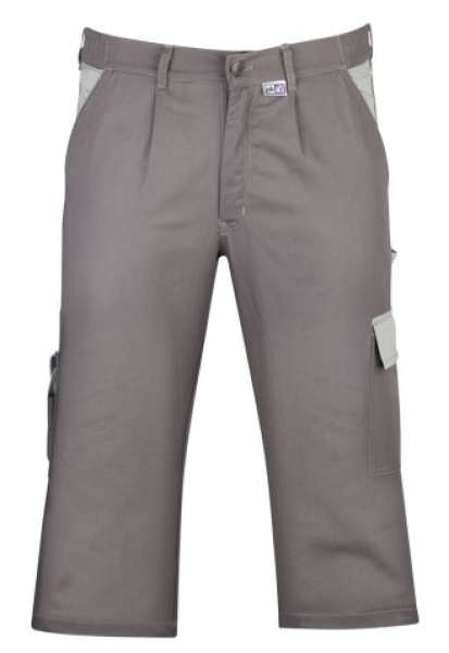 PKA Piraten-Hose, Arbeits-Berufs-Shorts, Praktika, 260 g/m², mittelgrau/grau