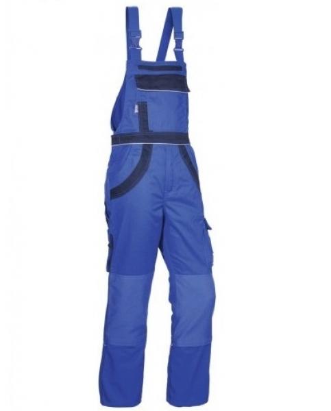 PKA Arbeits-Berufs-Latz-Hose Threeline Plus, MG280, kornblau/hydronblau