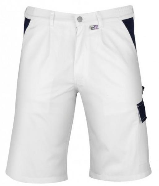 PKA Maler-Arbeits-Berufs-Shorts, Praktika, MG260, weiß/hydronblau