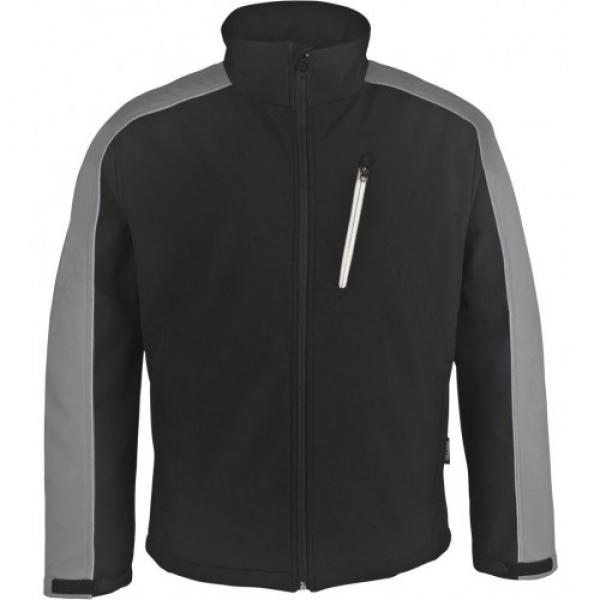 PKA Winter-Softshell-Arbeits-Berufs-Jacke, schwarz/hellgrau