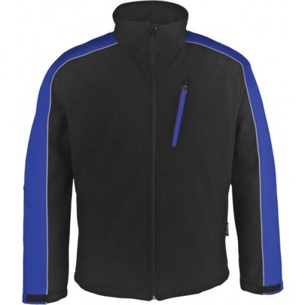 PKA Winter-Softshell-Arbeits-Berufs-Jacke, schwarz/kornblau