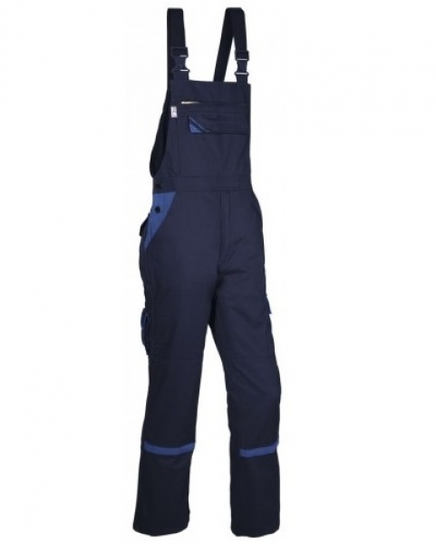 PKA Arbeits-Berufs-Latz-Hose Threeline Perfekt, MG320, hydronblau/kornblau