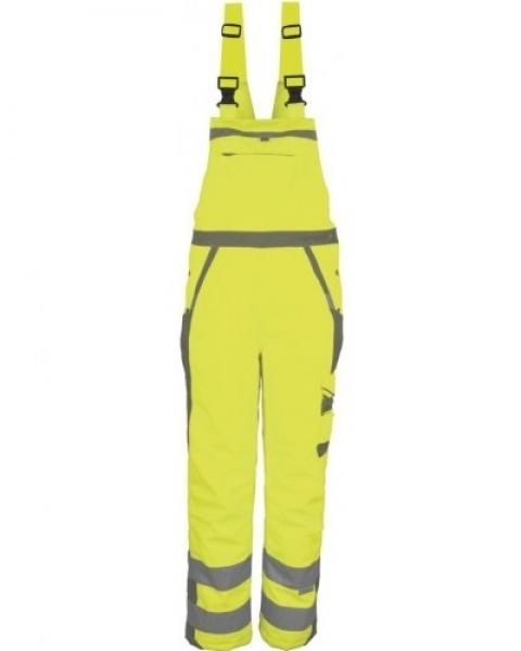 PKA-Winter-Warn-Schutz-Arbeits-Berufs-Latz-Hose, ca. 280g/qm, gelb/grau
