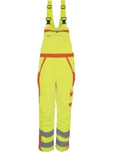 PKA-Winter-Warn-Schutz-Arbeits-Berufs-Latz-Hose, ca. 280g/qm, gelb/orange