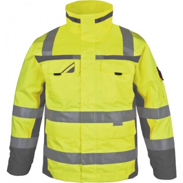 PKA-Winter-Warn-Schutz-Arbeits-Berufs-Parka, ca. 280g/qm, gelb/grau