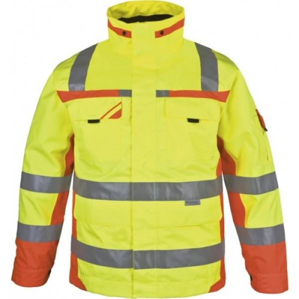 PKA-Winter-Warn-Schutz-Arbeits-Berufs-Parka, ca. 280g/qm, gelb/orange