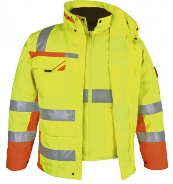 PKA-Winter-Warn-Schutz-Arbeits-Berufs-Parka 3in1, ca. 280g/qm, gelb/orange