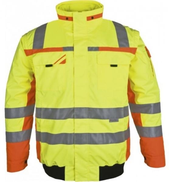 PKA-Winter-Warn-Schutz-Piloten-Arbeits-Berufs-Jacke, ca. 280g/qm, gelb/orange