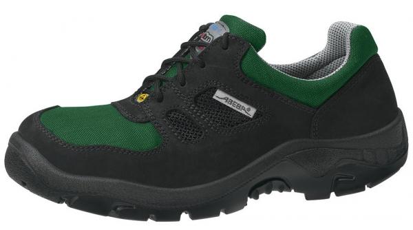 ABEBA-Anatom-S1-Damen- u. Herren-Sicherheits-Arbeits-Berufs-Schuhe, Halbschuhe, schwarz/grün