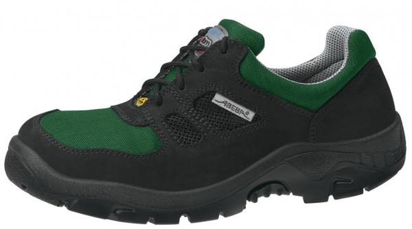 ABEBA-Anatom-S1-Damen- u. Herren-Sicherheits-Arbeits-Berufs-Schuhe, Halbschuhe, ESD, schwarz/grün