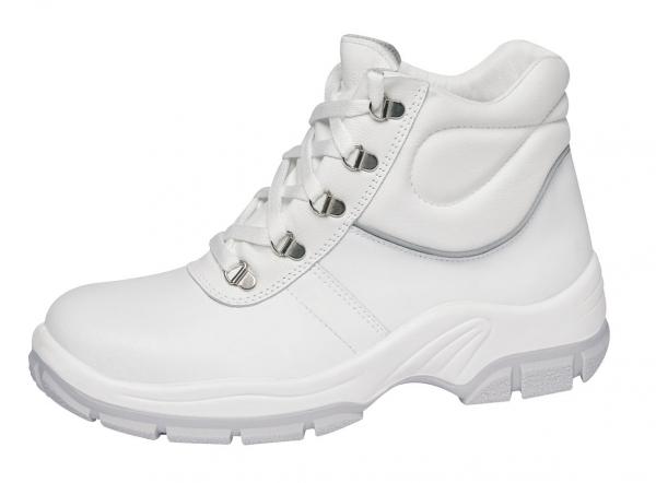 ABEBA-Protektor-Line-S3-Damen- u. Herren-Sicherheits-Arbeits-Berufs-Schuhe, Schnürstiefel, hoch, weiß