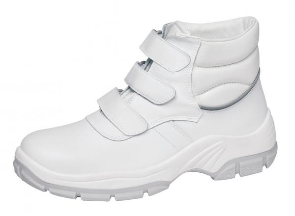 ABEBA-Protektor-Line-S3-Damen- u. Herren-Sicherheits-Arbeits-Berufs-Schuhe, hoch, Schnürstiefel, weiß