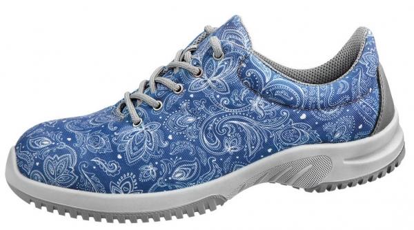 ABEBA-UNI6 S1 SRC, Sicherheitssneaker Textil Paisley, blau mit Motiv
