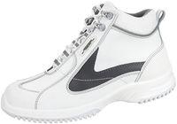 ABEBA-Uni6-S2-Damen- u. Herren-Sicherheits-Arbeits-Berufs-Schuhe, hoch, Schnürstiefel, weiß/grau