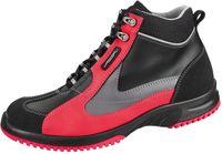 ABEBA-Uni6-S2-Damen- u. Herren-Sicherheits-Arbeits-Berufs-Schuhe, hoch, Schnürstiefel, schwarz/rot