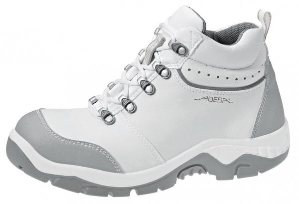 ABEBA-Anatom-S2-Damen- u. Herren-Sicherheits-Arbeits-Berufs-Schuhe, hoch, Schnürstiefel, weiß