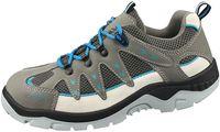 ABEBA-Anatom-S1P-Damen- u. Herren-Sicherheits-Arbeits-Berufs-Schuhe, Halbschuhe, grau/blau