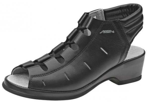 ABEBA-Service-Damen-Arbeits-Berufs-Sandalen, schwarz