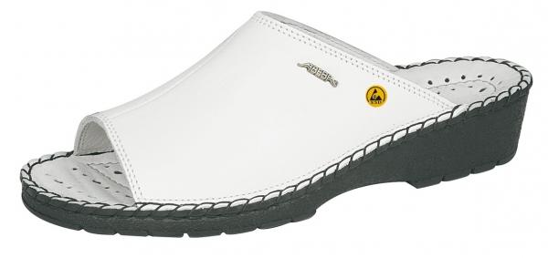 ABEBA-Reflexor-Damen-Arbeits-Berufs-Pantolette, weiß