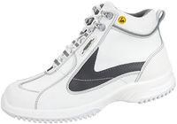ABEBA-Uni6-S2-Damen- u. Herren-Sicherheits-Arbeits-Berufs-Schuhe, hoch, Schnürstiefel, ESD, weiß/grau