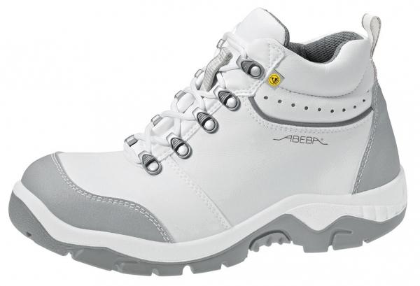 ABEBA-Anatom-S2-Damen- u. Herren-Sicherheits-Arbeits-Berufs-Schuhe, hoch, Schnürstiefel, ESD, weiß