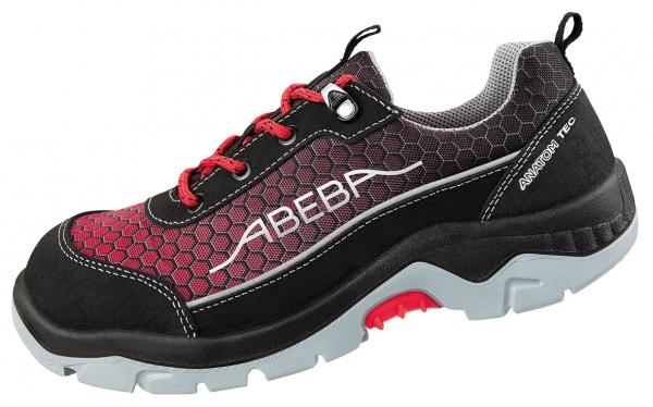 ABEBA-Anatom-S3-Damen- u. Herrensicherheitshalbschuhe, ESD, schwarz/rot