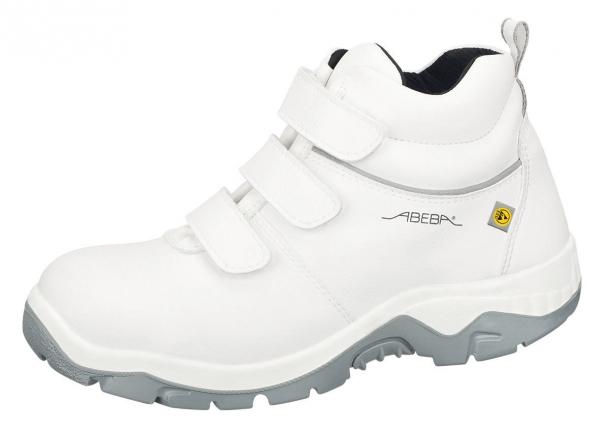 ABEBA-Anatom-S3-Damen- u. Herren-Sicherheits-Arbeits-Berufs-Schuhe, hoch, Schnürstiefel, weiß