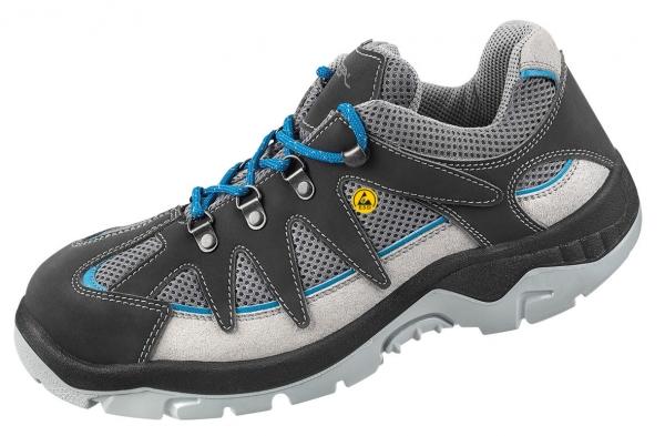 ABEBA-Anatom-S1P-Damen- u. Herren-Sicherheits-Arbeits-Berufs-Schuhe, Halbschuhe, ESD, grau/blau