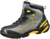 ABEBA-Crawler-Stahl-S3-Damen- u. Herren-Sicherheits-Arbeits-Berufs-Schuhe, Schnürstiefel, hoch, ESD, grau/gelb