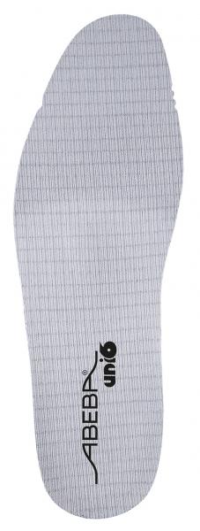 ABEBA-Schuh-Zubehör, Uni6-Einlegesohlen, Soft Comfort, mittel, für Berufschuhe Uni6, grau