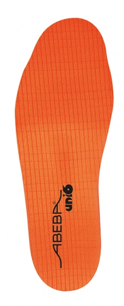 ABEBA-Schuh-Zubehör, Uni6-Einlegesohlen, Soft Comfort, schmal, für Berufschuhe Uni6, orange